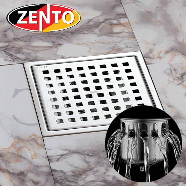 Thoát sàn chống mùi inox Square Zento ZT654-2U (150x150)